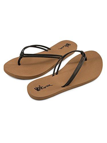 Volcom Women's Forever and Ever Dress Sandal, Vintage Black, 8 B US
