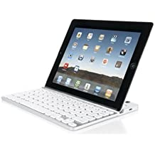 Zagg FOLKYBWHT97 ZAGGkeys Solo for iPad 2 - Keyboard Only - White/Silver.