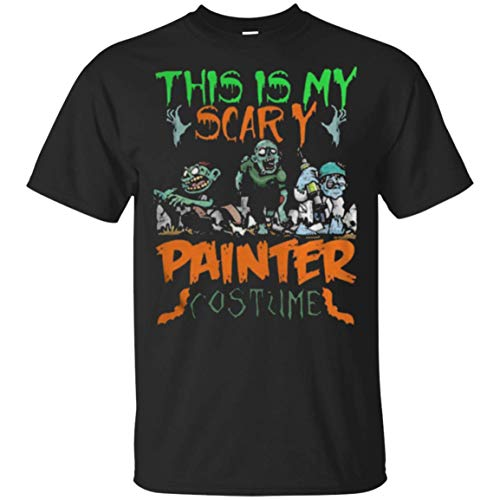 This is My Scary Painter Costume Zombie Halloween T-Shirt for Men -