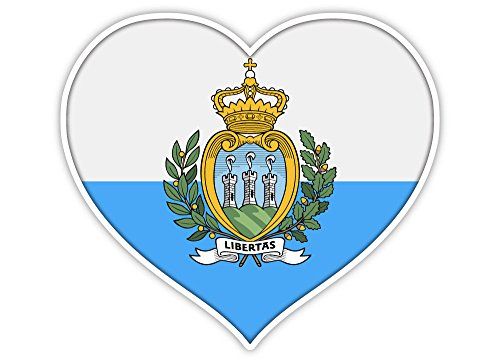 (Love San Marino flag heart sticker decal 5