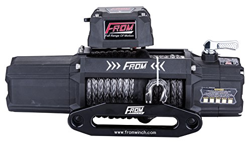 FROM ANT Series Electric Off Road Winch 9500lbs 5.5HP 12V for ATV/UTV/Jeep with Synthetic Rope FA9.5S by FROM (Image #2)