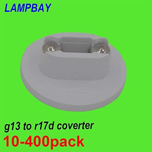 (Kamas 10-400pcs G13 Bi-pin to R17D (HO) Converter T8/T10/T12 LED Tube Light HO Lamp base Adapter - (Base Type: 100 pcs))