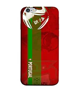 ColorKing Football portugal 10 Red shell case cover for Apple iphone 6 / 6s