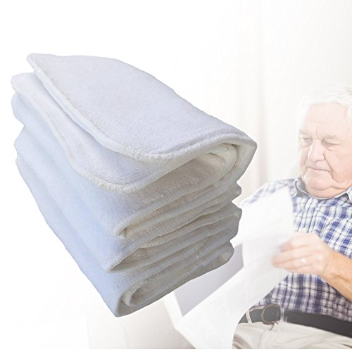 Reusable Nappy Liners, Adullt Washable Reusable 4 Layers Soft Incontinence Cloth Diaper Insert Liner Nappy Pad