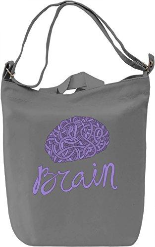 Brain Borsa Giornaliera Canvas Canvas Day Bag| 100% Premium Cotton Canvas| DTG Printing|