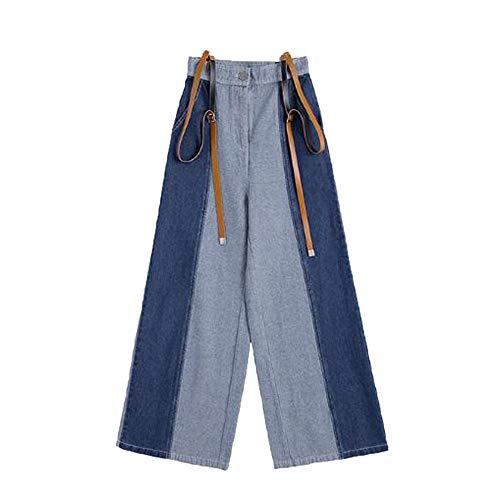 De Recta Pantalones Las De De Pierna Mujeres Pantalones Pantalones ADEMI Color Blue2 De De Vaqueros Largos Costura Mezclilla xtf74O4wq