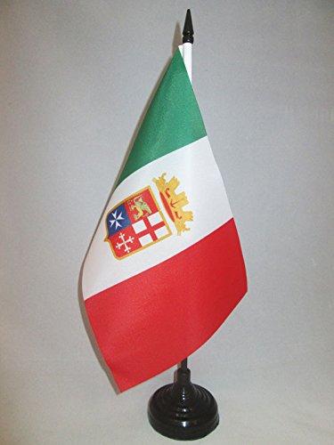 BANDIERA DA TAVOLO ITALIA MARINA MILITARE 21x14cm - PICCOLA BANDIERINA ITALIANA NAVALE 14 x 21 cm - AZ FLAG