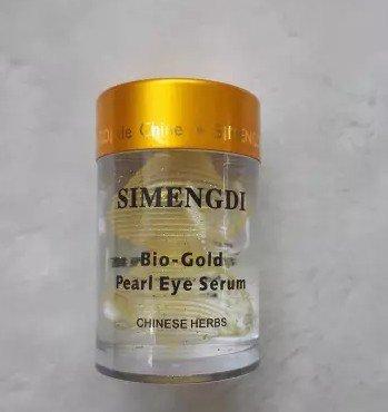 Eye Gel Essence - Simengdi Silk Essence Eye Serum – Bio Gold Pearl Gel for Dark Circles and Eye Puffiness – Anti Aging, Anti Wrinkle and Cell Renewal Serum - Chinese Herbs and Pearl Powder 1 Ounce
