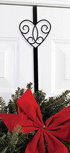 Wrought Iron Victorian Heart Christmas Wreath Door Hanger by IronWorks