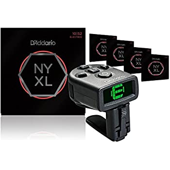 d 39 addario nyxl1052 electric guitar strings 5 pack with free ns micro headstock tuner. Black Bedroom Furniture Sets. Home Design Ideas