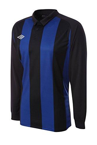 Umbro Men's Long Sleeved Soccer Jersey Clifton Stripe X-Large Blue / (Umbro Long Sleeve)