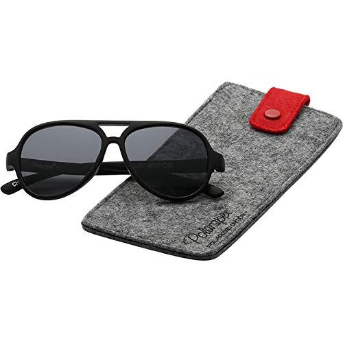 Polarspex Pilot Kids Polarized Bendable Sunglasses for Boys and Girls - BPA Free]()