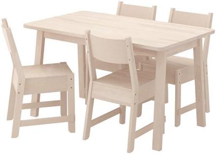 Ikea Table And 4 Chairs White Birch White Birch 20204 5232 3030 Amazon Ca Home Kitchen
