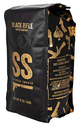 Black Rifle Coffee Company Silencer Smooth Coffee Light Roast Whole Bean, 12 Ounce Bag