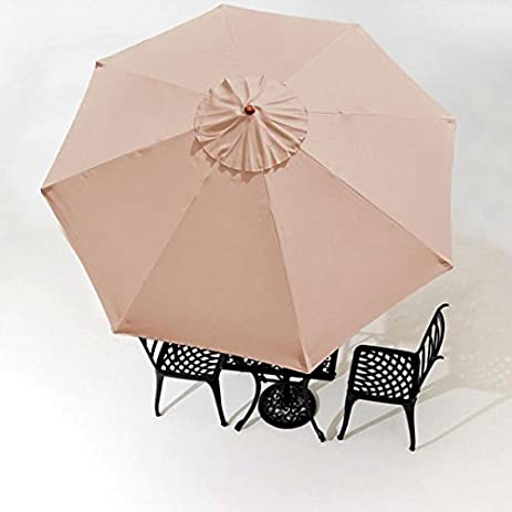 9 Feet Polyester 8-rib Structure Umbrella Replacement Canopy Tan for Outdoor Patio Cover Top & Amazon.com : 9 Feet Polyester 8-rib Structure Umbrella Replacement ...