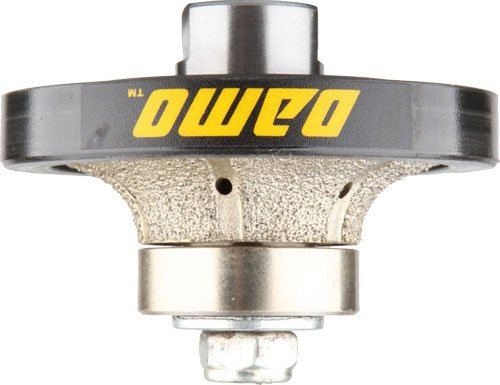 DAMO 1/2 inch Demi Bullnose Half Bullnose Roundover Coarse Diamond Hand Profiler Router Bit Profile Wheel with 5/8-11 Thread for Granite Concrete Marble Countertop Edge - Marble Wet Profile Wheel