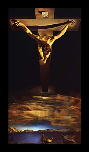 Lilarama USA Salvador Dali Christ of St John On The Cross Framed Canvas Art Print Reproduction (Dali Christ Of St John Of The Cross)