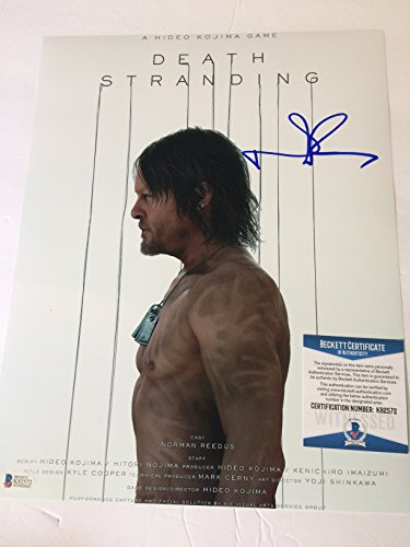 Norman Reedus autographed 11x14 photograph Death Stranding a Hideo Kojima Productions Video Game Beckett