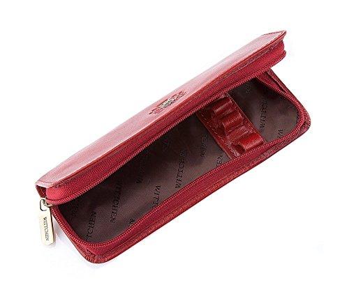 WITTCHEN caso, Rosso, Dimensione: 5.5x16 cm - Materiale: Pelle di grano - 22-2-001-3