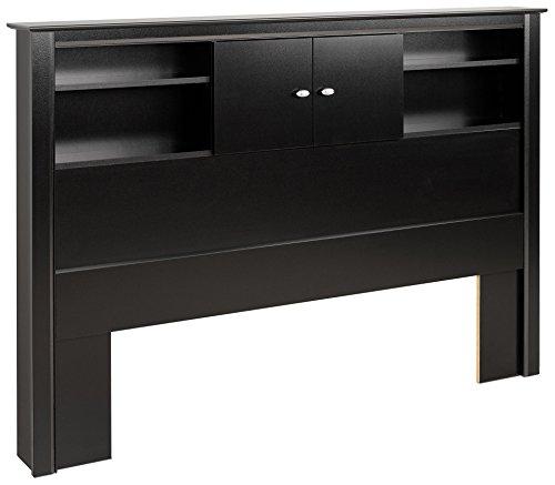 black kallisto bookcase headboard with doors kitchen dining. Black Bedroom Furniture Sets. Home Design Ideas