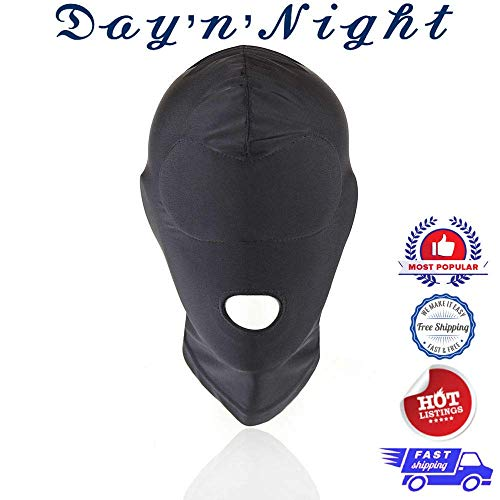 Usonline 1SL1524 Black MASK Soft Costume Halloween ONE Size FITS All ()