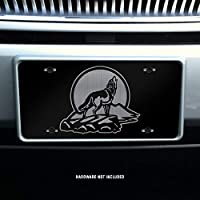 Wolf Howling Moon Vanity Front License Plate Tag KCE384
