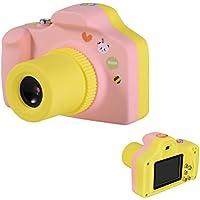 fannuoyi Kids Digital Camera, Mini 1.5 Inch Screen Childrens Camera 5MP HD 1080P Toy Camera Birthday Best Gift (Pink)