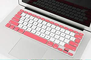 Unibody Silicone Keyboard Skin Cover For 12inch Macbook [jpm0019]pink-white(us Layout)