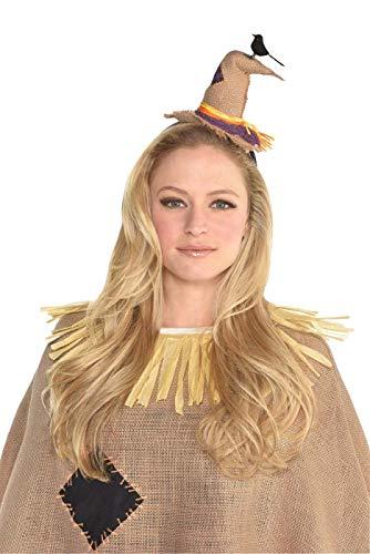 Suit Yourself Scarecrow Hat Headband, Halloween Costume Accessory, Burlap, 6