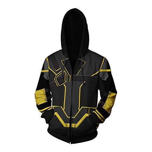 Wsysnl Halloween Anime Cosplay Hawkeye Sweatshirt Hooded Zipper Clothing 3D Style Adult Black -