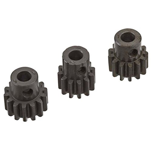 Novak 5121 Mod 1 Hardened Steel Pinion Gear, 5mm, 3-Pack (12T, 13T and 14T)