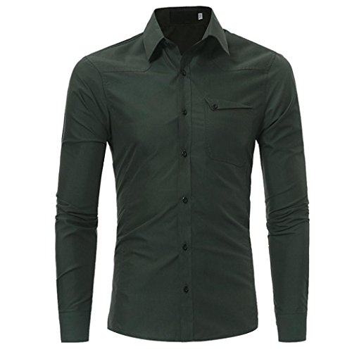 Gocheaper-Slim-Fit-Business-Shirts-Fashion-Personality-Mens-Solid-Long-Sleeve-Dress-Shirt-Button-Down-Top-Blouse