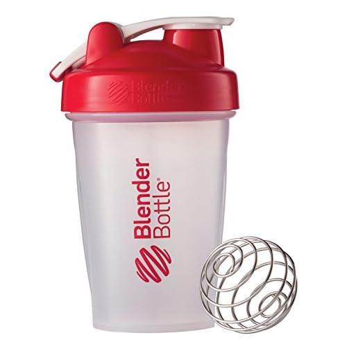 BlenderBottle Classic Loop Top Shaker Bottle, Clear/Red, 20-Ounce Loop Top