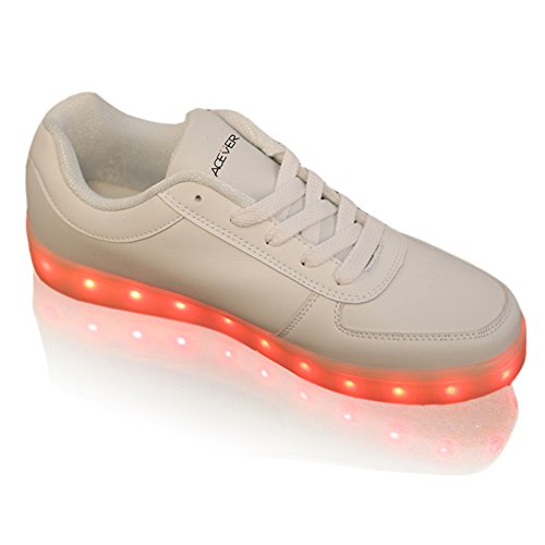 ACEVER Women's Flashing Shoes LED Casual Sneakers for Valentine's Day Prom Cosplay Birthday Party (US8)