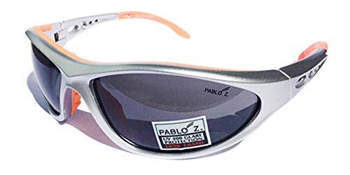 Pablo soleil Lunette black Taille Silver Femme lens orange de Z unique rCqOSr