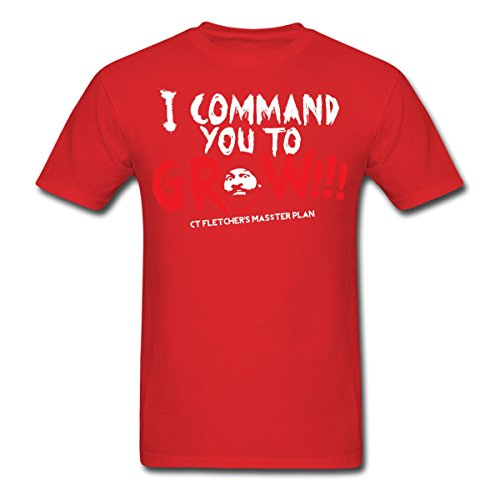 Spreadshirt Men's CT FLETCHER I Command you to... T-Shirt, red, XL