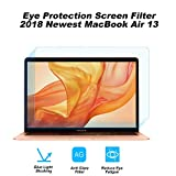 2-Pack Eye Protection Blue Light Blocking & Anti Glare Screen Protector for 2018 Newest MacBook Air 13 Touch ID Version A1932 /2016 2017 2018 Apple MacBook Pro 13' A1706 A1708 A1989 [2-Pack]