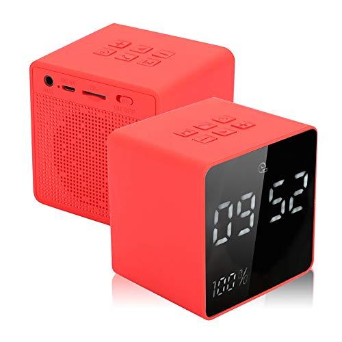 ABS Soundbox, Luidsprekerbox, Luidspreker, Meeslepende Muziek Rood voor Binnen, Alle groepen mensen, Thuis, Kantoor…