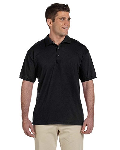 Gildan 100% Cotton Jersey Polo 2800 (XL / Black) ()
