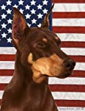 Cheap Best of Breed Doberman Red Cropped Patriotic II Large Flags