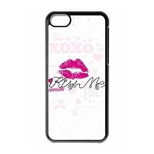 iPhone 5c Cell Phone Case Black Kiss Me Doodle JSK650054