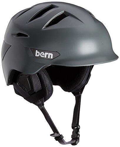 Bern Mens Rollins hiver avec doublure et casque à mousse Gris satiné gris - Satin Grey/Black