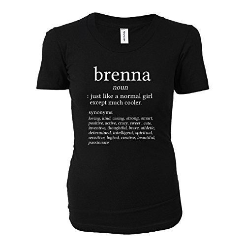 Brenna Name Meaning. Dictionary Format. Funny Gift - Ladies T-shirt