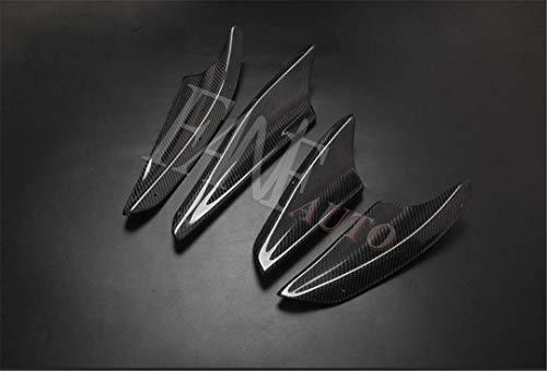 FANFAUTO Carbon Fiber Front Bumper Splitter Canard for Mitsubishi Lancer GTS Evolution EVO X EX 10TH 2008-2016
