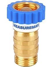 "Measureman Lead-Free Brass, Water Pressure Regulator, Pressure Reducer for Camper, Trailer, RV, Garden, Plumbing System, 40-50 psi, 3/4""Hose"