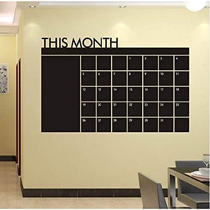 Knncch Diy Calendario De Pizarra Mensual De Vinilo Etiqueta ...