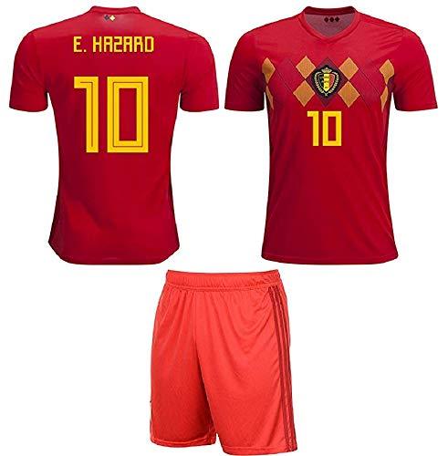 major sports Belgium Hazard #10 Soccer Jersey Kids Youth Sizes Football World Cup Premium Gift Set