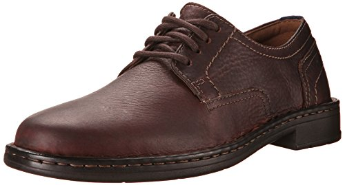 Clarks Men's Kyros Plain Toe Lace Up Shoe,Brown Tumbled Leather,US 9 M (Shoes Plain Mens Blucher Toe)