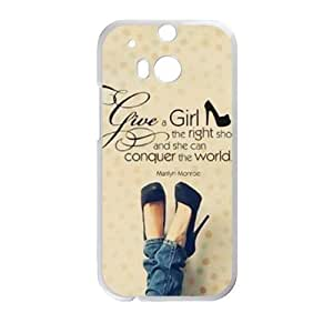 Marilyn Monroe give a girl the right shoes Quote Cell Phone Case for HTC One M8