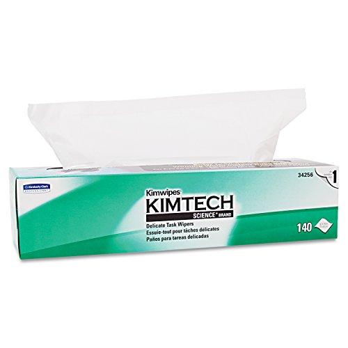 Kimberly-Clark Kimwipes(R), 14.7 in x 16.6 in, 140 Count (Lens Kimwipes)